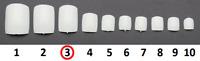 20 Pack Of Size 3 White Acrylic False Toe Nails Nail Full Extension Tips Beauty