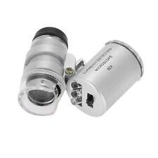 60X Mini Microscope Jeweler Loupe Lens Luminous Magnifier Glass With LED Light