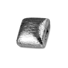 Black Rhodium Overlay Square Shape Brushed Bead BR-234