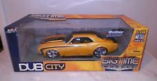 JADA TOYS BIG TIME MUSCLE 1:18 DUB CITY 1968 CHEVROLET CAMARO YELLOW BLACK