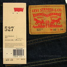 Levis 527 Jeans Mens New Slim Boot Cut Size 32 x 34 BLACK INDIGO Levi's #153