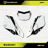 Gray Shift # Number Plate Graphics Kit fits Suzuki DRZ400SM Drz400s drz400 grey