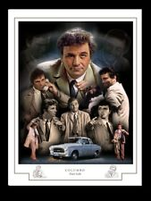 COLUMBO - Peter Falk - A3 MONTAGE PRINT