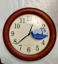 La Crosse Technology WT-3122A Wood Atomic Analog Clock, Cherry Walnut 12.5 in.