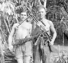WW2 Photo WWII Captured Japanese Machine Guns  New Guinea  World War Two /1443