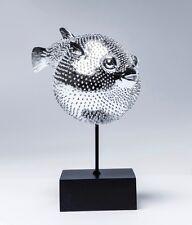 Kare Design 37369 Dekofigur Blowfish Fisch Deko Kugelfisch Silber