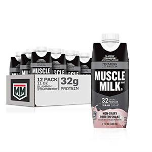 Muscle Milk Pro Series Protein Shake, 32g Protein, Slammin' Strawberry, 11 Fl 12