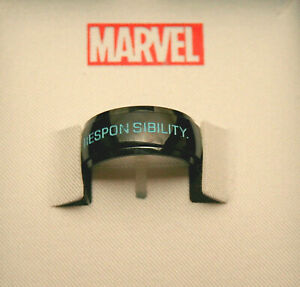 Marvel Comics Spiderman Ring Great Power Comes Responsibility New NOS Box sz 9