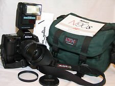 Nikon N90S camera w/ Tamron AF aspherical 28-200 lens + Nikon MB-10 battery grip