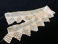 Antique Lace Edging Scrap Fragment Crochet Edwardian Trim