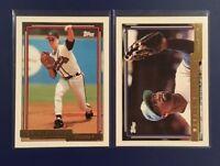 1992 Topps # 305-436 TOM GLAVINE / MOOKIE WILSON Gold Lot 2 Braves Mets