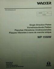 Wacker WP1550 Vibroplate Compacter & Engine Parts Manual 54pg Asphalt Walkways