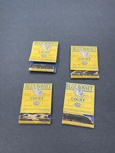 LOT OF 4 Vintage Matchbooks Blue Bonnet Kirkwood 2984 Court St Louis Route 66
