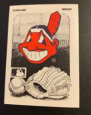 1989 Fleer Baseball Sticker Milwaukee Brewers Cleveland Indians Chief Wahoo Back