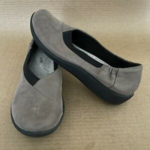 Clarks Cloudsteppers Womens Loafer Sillian Jetay Size 8.5 Taupe Black Shoes