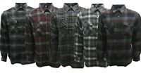 MENS PLAID & BUFFALO CHEXS FLANNEL IN CHARCOAL, BURGUNDY, BLACK