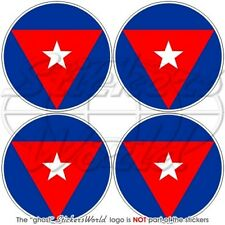 """CUBA Cuban AirForce Aircraft Roundel 50mm (2"""") Stickers Decals x4"""