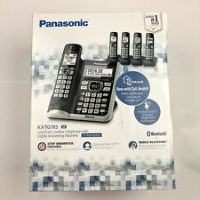 NEW PANASONIC 5 HANDSET CORDLESS PHONE SET DECT 6.0 LINK2CELL KX-TG785 SK