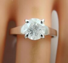 1.61 ct solitaire real diamond wedding engagement ring 18k white gold ring
