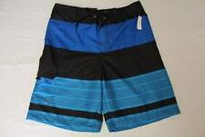 NEW Mens Swim Trunks XL Board Shorts Blue Black Stripe Surf Pool Swimsuit X-Larg