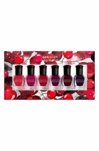 "6 BOTTLES Deborah Lippmann Gel Lab Pro Color ""Very berry "" Nail Polish / NIB"