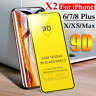 For iPhone 11 Pro Max XR 7 8 6 Plus 9D Screen Real Tempered Glass Film Protector