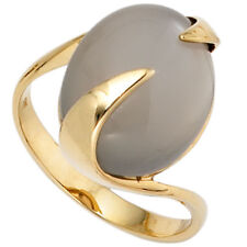 Ring Gold Ring Women's Ring With Moonstone, 585 Yellow Gold, Elegant, Ladies
