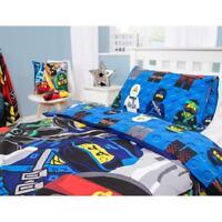 Kids LEGO Ninjago Reversible Single Duvet Set Bedding Christmas Present