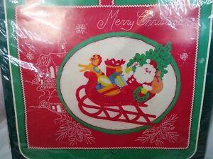 Santa's Sleigh Ride Bucilla KIt  49002 Felt Jeweled Wall Hanging New