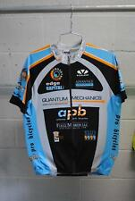Voler Custom Team Short Sleeve Cycling Jersey Black/Grey/Blue Mens XL Used