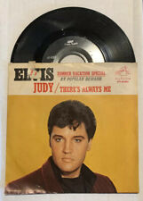 """45rpm Elvis Presley 7"""" PS There's Always Me / Judy RCA 47-9287 1967 VG+ / EX"""