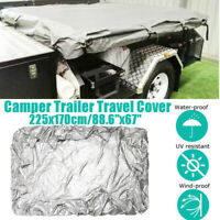 Outback Camper Trailer Cover Travel Tent Polyester Waterproof Bag 225x170cm -