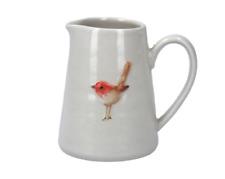 Gisela Graham Christmas Jug - Ceramic Mini Jug with Robin