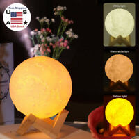 Air Humidifier Light 3D Moon Lamp Diffuser Aroma Essential Oil For Bedroom KID