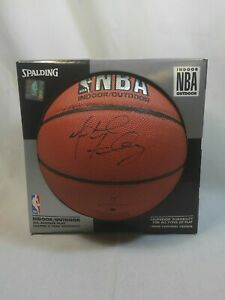 Michael Finley Signed NBA Spalding Basketball Autographed In Black