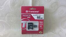 Transcend 16GB SD HC Class 10 Premium 200x 30MB/s Memory Card for Digital Camera