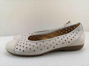 GABOR Designer Ladies Women Leather Court Pump Brogue Slip On Shoe Size 4 37