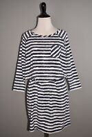 SOUTHERN TIDE $118 Jenna Long Sleeve Striped Dress in Navy Blue Medium