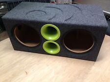"Massive Audio Dual 10"" Summo SUMMOXL104 Sub Custom Aero Ported Subwoofer Box Low"