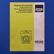 Hatz Motor 1B20 Ersatzteilkatalog Ersatzteilliste - Ausgabe 1997