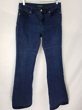 LRL Lauren Jean Co Flare Jeans Womens Size 4 Stretch Dark Denim W29 L32