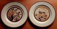 Beautiful Pair of Chinese 26cms Diameter White 24ct Gilded Collector Plates VGC