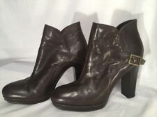 Simply Vera by Vera Wang Noir Deep Brown Buckle Ankle Boots Sz 9.5M