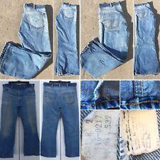 """Vintage Levi's 646-0217 Jeans 38"""" Waist Orange Tab Flare Leg 70s 1970s 646"""