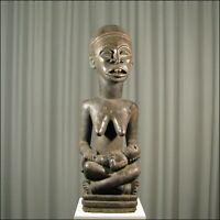 42913) Afrikanische Bakongo Holz Figur Kongo Afrika KUNST