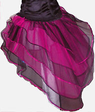Hot Pink Black Bustle Burlesque Punk rave club Tutu Skirt dance Halloween party