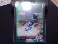 Andy Ibanez 2017 Bowman Chrome MOJO GREEN REFRACTOR AUTO AUTOGRAPH RC /99