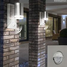Design Wand Glas Lampe Grundstück Haus Leuchte Garten Edelstahl Sensor Strahler