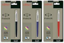 Parker Jotter Variety Ball point Pen Set - Red, Blue, Black Body, (Blue Ink) New