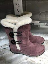 Woman's MERRELL Polartic Primaloft Yarra Insulated suede boots size6 Burgundy